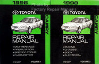 1998 Toyota Camry Repair Manuals Volume 1 and 2