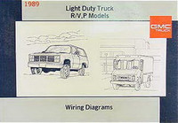 1989 GMC Light Duty Truck R/V, P Models Wiring Diagrams - Original Factory Manual