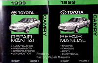 1999 Toyota Camry Repair Manual Volume 1 and 2