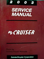 2003 Chrysler PT Cruiser Factory Service Manual Original Shop Repair