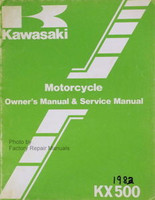 1983 Kawasaki KX500-A1 KX 500 Owners Service Manual Original Factory Shop Repair