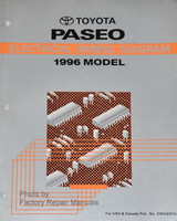 1996 Toyota Paseo Electrical Wiring Diagrams - Original Factory Shop Manual