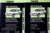 1999 Toyota Camry Solara Repair Manual Volume 1 and 2