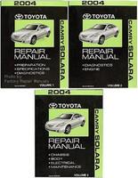 2004 toyota camry solara repair manual volume 1, 2, 3