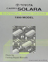 1999 Toyota Camry Solara Electrical Wiring Diagrams - Original Factory Manual