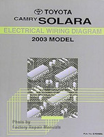 Toyta Camry Solara Electrical Wiring Diagram 2003 Model