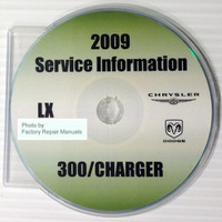 2009 Chrysler 300 Series, Dodge Charger Service Information CD