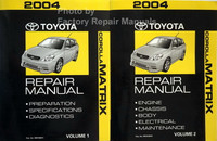 2004 Toyota Matrix Repair Manual Volume 1, 2
