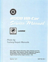 2008 Buick Lucerne Factory Shop Service Repair Manual 4 Volume Set