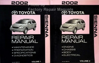 2002 Toyota Sienna Repair Manual Volume 1, 2
