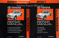 2001 Toyota Tacoma Repair Manuals Volume 1 and 2