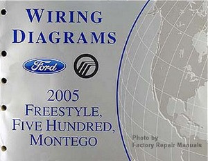 2005 ford freestyle, five hundred & mercury montego electrical wiring  diagrams manual  image 1