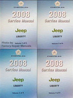 2008 Service Manual Jeep Liberty Volume 1, 2, 3, 4