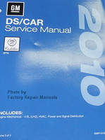 2010 Cadillac STS Factory Service Manual 4 Volume Set - Original Shop Repair