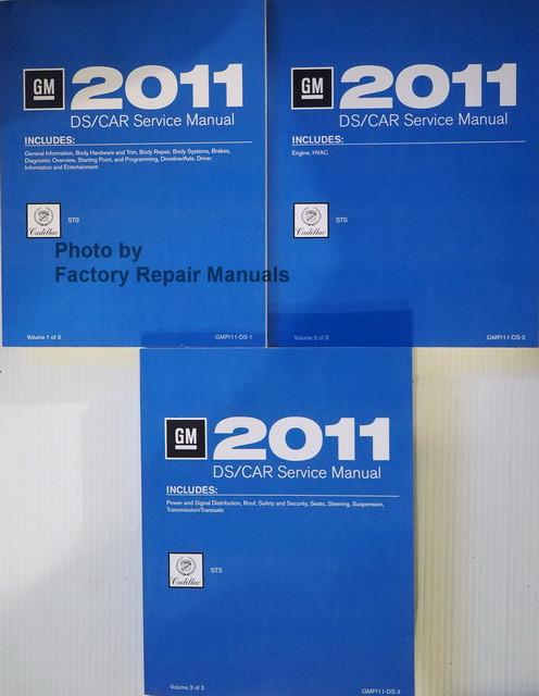 2011 Cadillac STS Service Manual Volume 1, 2, 3