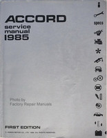 1985 Honda Accord Factory Service Manual – Original Shop Repair