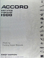 1988 Honda Accord Factory Service Manual – Original Shop Repair