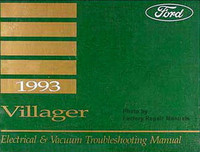 1993 Mercury Villager Electrical & Vacuum Troubleshooting Manual Original EVTM