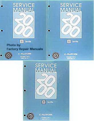 2000 Cadillac Seville Factory Service Manuals