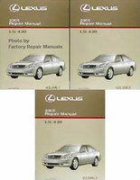 2005 Lexus LS430 Factory Service Manual 3 Volume Set - Original Shop Repair
