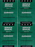 2004 Dodge Durango Factory Service Manual Set - Original Shop Repair