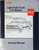 1989 GMC Light Duty Truck C/K Models Service Manual