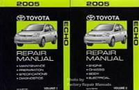 2005 Toyota Echo Factory Service Manual Set - Original Shop Repair
