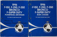 1996 F-150 F-250 F-350 Bronco F-Super Duty Service Manual Volume 1 and 2