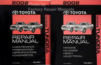 2002 Toyota Tundra Repair Manual Volume 1, 2