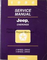 1996 Jeep Cherokee Service Manual 2 Wheel Drive 4 Wheel Drive