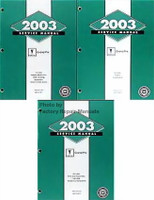 2003 Pontiac Grand Prix Service Manual Volume 1, 2, 3