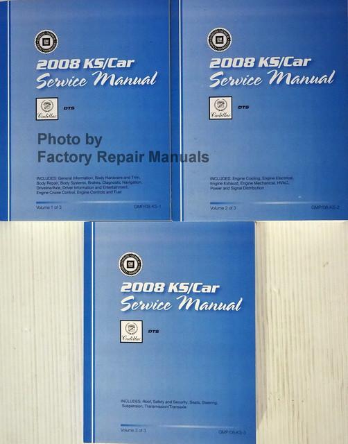 2008 KS/Car Service Manual Cadillac DTS Volume 1, 2, 3