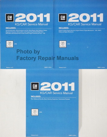 GM 2011 Cadillac DTS Service Manual Volume 1, 2, 3