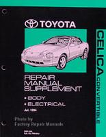 1995-1999 Toyota Celica Convertible Repair Manual Supplement Original