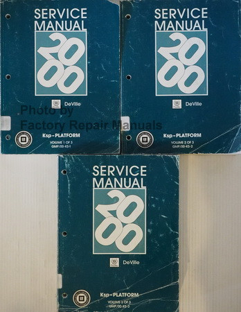 Service Manual 2000 Cadillac Deville Volume 1, 2, 3