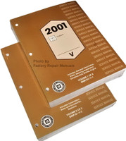 2001 Cadillac Catera Factory Service Manual 2 Volume Set Original Shop Repair