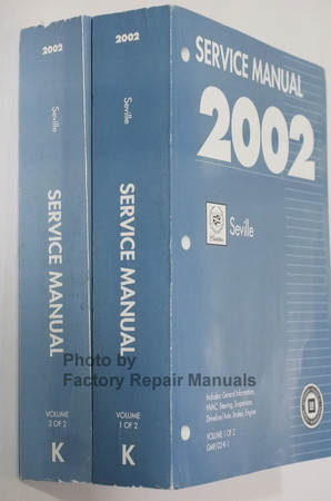 2002 Cadillac Seville Service Manuals Spine View