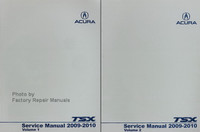 2009 2010 Acura TSX Factory Service Manuals 4 Cylinder Models