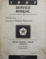 1987 Service Manual Rear Wheel Drive Trucks D & W 100-350 Ramcharger