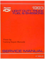 1993 Chevrolet Light Duty Truck, Van Fuel & Emissions Service Manual