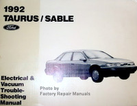 1992 Ford Taurus Mercury Sable Electrical and Vacuum Troubleshooting Manual