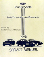 1992 Ford Taurus Mercury Sable Service Manual