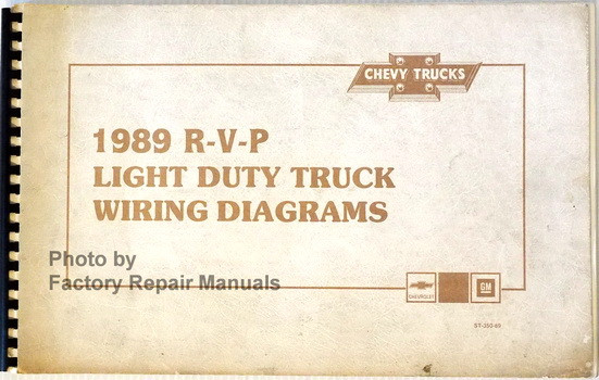 1989 chevrolet light duty truck van wiring diagrams