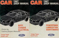 1987 Ford Tempo Escort EXP, Mercury Topaz Lynx Shop Manuals