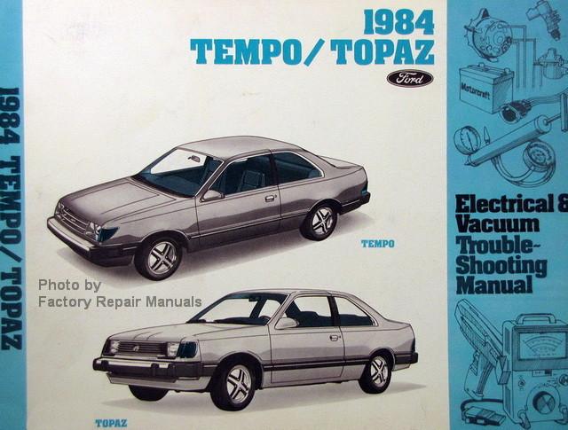 1984 ford tempo mercury topaz electrical vacuum troubleshooting 1984 Tempo Interior 1984 ford tempo mercury topaz electrical vacuum troubleshooting manual