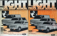 1982 Ford F100 F150 F250 F350 Truck Econoline, Bronco Shop Manuals