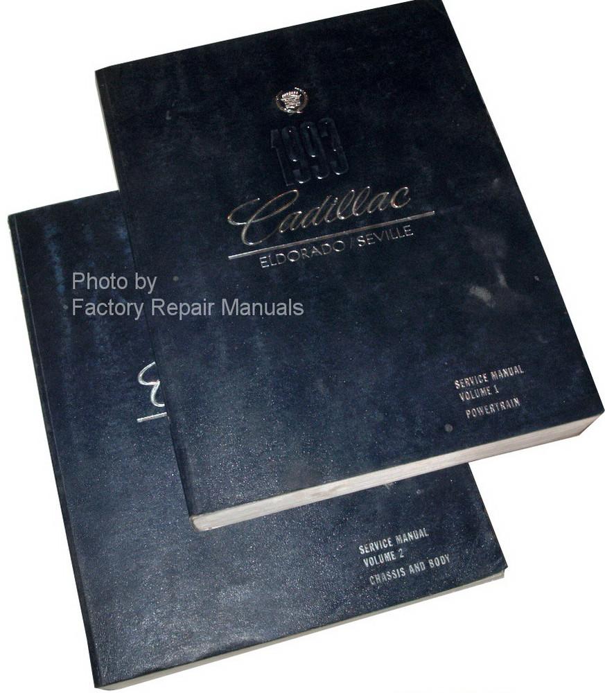 1993 Cadillac Eldorado Seville Service Manuals
