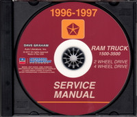 1996 1997 Dodge Ram Truck 1500 2500 3500 Factory Service Information CD