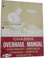 1968 Chevrolet Bel Air Camaro Corvette Chevelle El Camino Impala Unit Repair Overhaul Manual