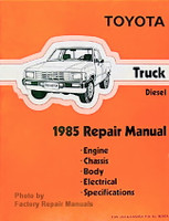 Toyota Truck Diesel 1985 Repair Manual